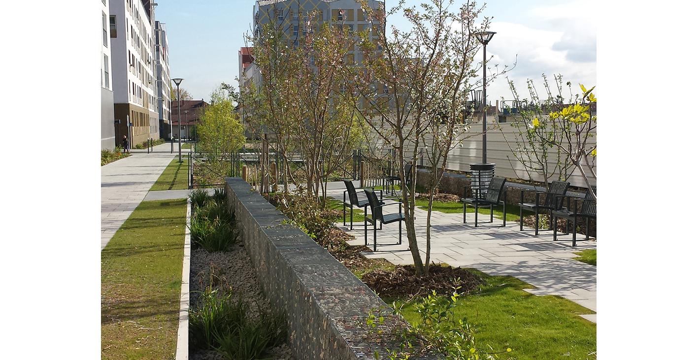 Végétalisation écoquartier à Pontoise, Grand Huit SCOP Architecte