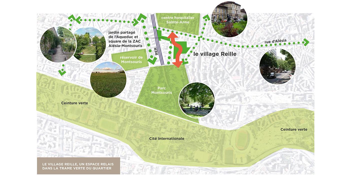 Plan Le Village Reille Paris 14ème Grand Huit Architecte